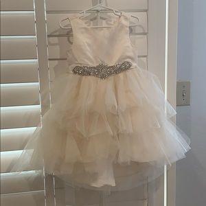 3T Off white flower girl dress